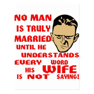 No se casa ningún hombre verdad hasta que él tarjetas postales