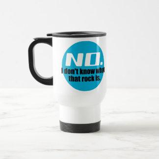 No sé cuáles es esa roca (el azul) taza de café