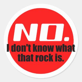 No sé cuáles es esa roca el rojo etiqueta