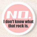 No sé cuáles es esa roca (el rosa) posavasos cerveza
