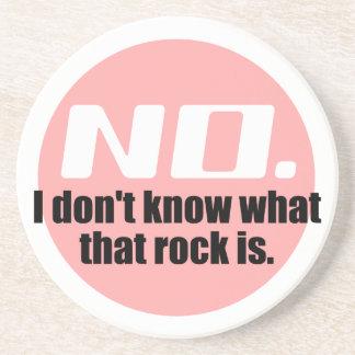 No sé cuáles es esa roca el rosa posavasos cerveza