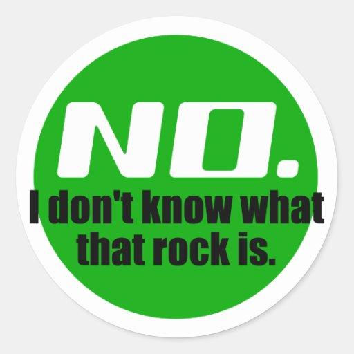 No sé cuáles es esa roca (el verde) etiquetas redondas