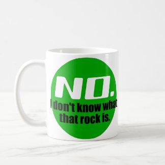 No sé cuáles es esa roca (el verde) tazas de café