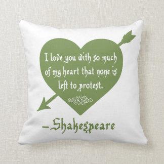 No se deja ninguno protestar la almohada del amor cojín decorativo