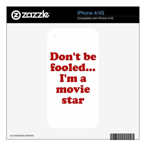 No se engañe… Soy estrella de cine iPhone 4 Skins