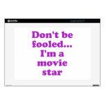 No se engañe… Soy estrella de cine Calcomanías Para 38,1cm Portátiles