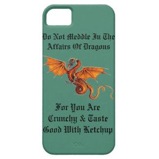 No se entrometa en los asuntos de dragones iPhone 5 fundas