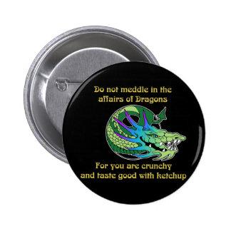 No se entrometa en los asuntos de dragones pin