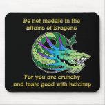 No se entrometa en los asuntos de dragones tapete de raton