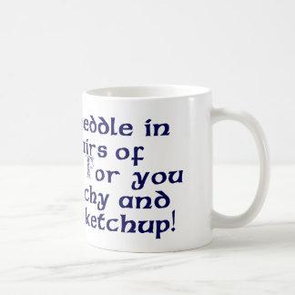 No se entrometa en los asuntos de dragones taza de café