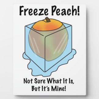 No sé es qué melocotón del helada placas con fotos