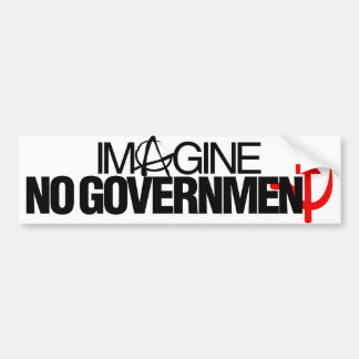No se imagine a ningún gobierno etiqueta de parachoque
