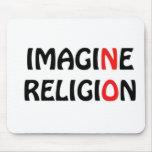 No se imagine ningún diseño de la paz de la religi tapete de ratón