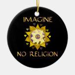 No se imagine ninguna religión adornos de navidad