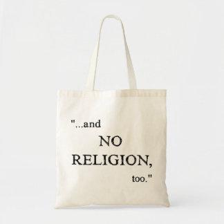 No se imagine ninguna religión bolsa de mano
