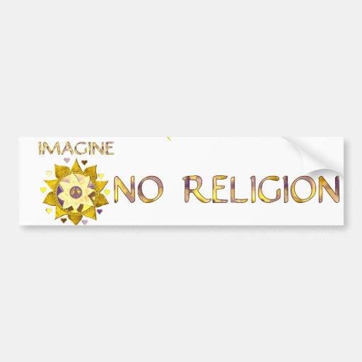 No se imagine ninguna religión etiqueta de parachoque