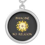 No se imagine ninguna religión collares personalizados