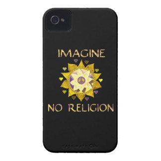 No se imagine ninguna religión iPhone 4 Case-Mate cárcasa