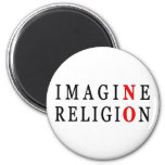 No se imagine ninguna religión imán para frigorífico