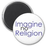 No se imagine ninguna religión iman de nevera