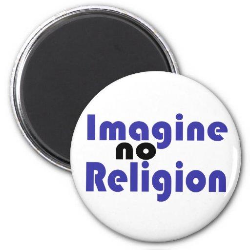 No se imagine ninguna religión imán redondo 5 cm