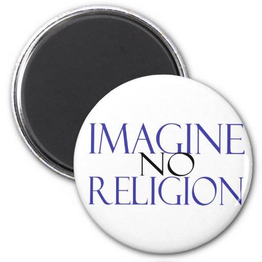 No se imagine ninguna religión imanes de nevera