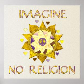 No se imagine ninguna religión posters