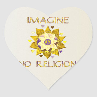 No se imagine ninguna religión colcomanias de corazon
