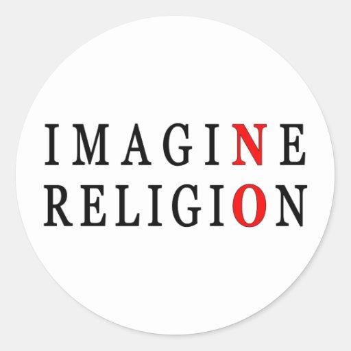 No se imagine ninguna religión pegatina