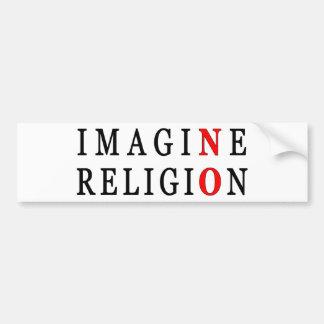 No se imagine ninguna religión pegatina para auto