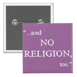 No se imagine ninguna religión pin cuadrada 5 cm