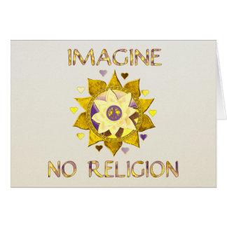 No se imagine ninguna religión tarjeton