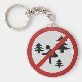 No se ponga en cuclillas en las maderas llaveros