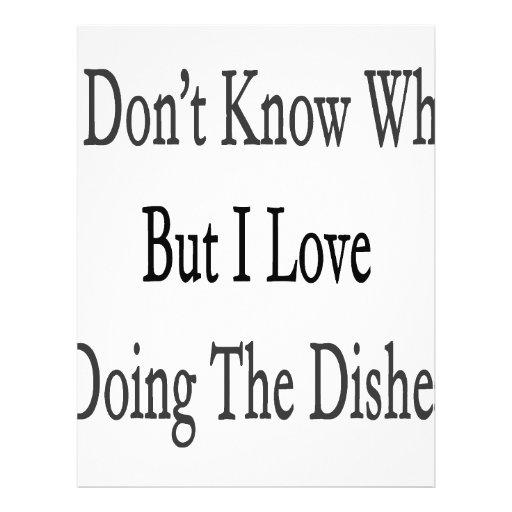 No sé porqué solamente amo el hacer de los platos tarjeton
