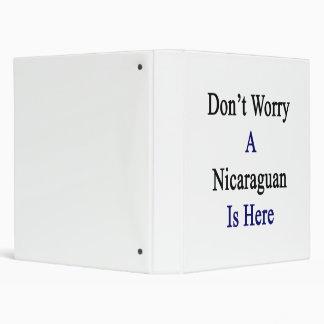 No se preocupe a un Nicaraguan está aquí