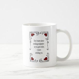 No se preocupe de evitar la tentación taza de café