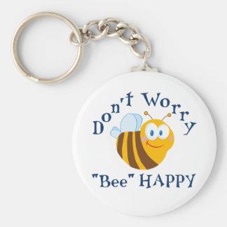 """No se preocupe el llavero feliz de la """"abeja"""""""