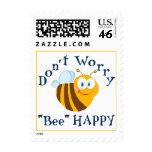 """No se preocupe el sello feliz de la """"abeja"""""""