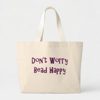 No se preocupe el tote feliz de la gota bolsa tela grande