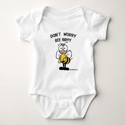 No se preocupe la abeja feliz body para bebé