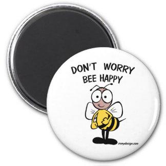 No se preocupe la abeja feliz imanes de nevera