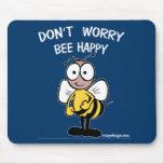 No se preocupe la abeja feliz tapete de raton