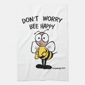 No se preocupe la abeja feliz toallas de cocina