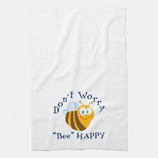 """No se preocupe la toalla de cocina feliz de la """"ab"""