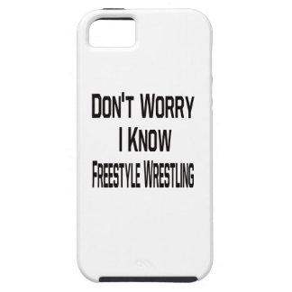 No se preocupe me saben la lucha de estilo libre iPhone 5 Case-Mate funda