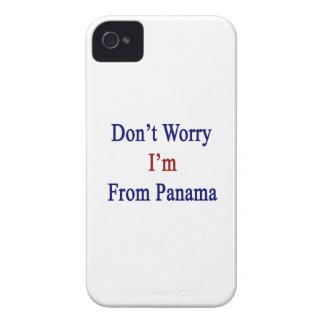 No se preocupe me son de Panamá iPhone 4 Case-Mate Cárcasa