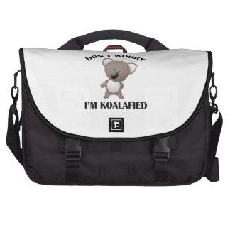 No se preocupe me son Koalafied Bolsas De Portátil