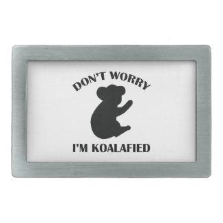 No se preocupe me son Koalafied Hebillas Cinturon Rectangulares