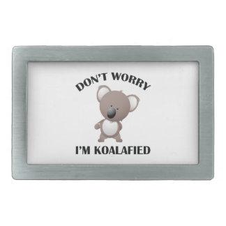 No se preocupe me son Koalafied Hebillas De Cinturon Rectangulares