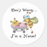 No se preocupe me son pegatinas de una enfermera